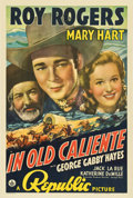 "Movie Posters:Western, In Old Caliente (Republic, 1939). One Sheet (27"" X 41"")...."