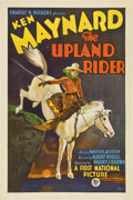 "Movie Posters:Western, The Upland Rider (First National, 1928). One Sheet (27"" X 41"")...."