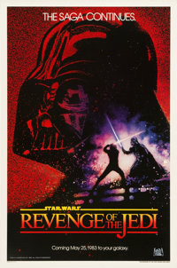 "Revenge of the Jedi (20th Century Fox, 1982). One Sheet (27"" X 41"")"