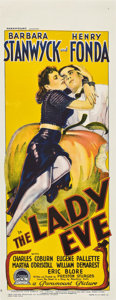 """Movie Posters:Comedy, The Lady Eve (Paramount, 1941). Pre-War Australian Daybill (15"""" X 39.5"""")...."""
