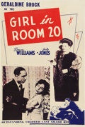 "Movie Posters:Black Films, The Girl in Room 20 (Astor Pictures, 1946). One Sheet (27"" X41"")...."