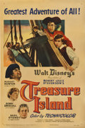 "Movie Posters:Adventure, Treasure Island (RKO, 1950). One Sheet (27"" X 41"")...."
