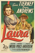 "Movie Posters:Film Noir, Laura (20th Century Fox, 1944). One Sheet (27"" X 41"")...."