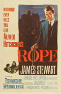 "Movie Posters:Hitchcock, Rope (Warner Brothers, 1948). One Sheet (27"" X 41"")...."