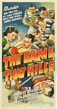 "The Game That Kills (Columbia, 1937). Three Sheet (41"" X 81"")"