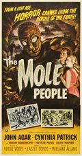 """Movie Posters:Science Fiction, The Mole People (Universal International, 1956). Three Sheet (41"""" X81"""")...."""