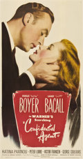 "Movie Posters:Drama, Confidential Agent (Warner Brothers, 1945). Three Sheet (41"" X81"")...."