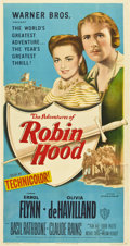 "Movie Posters:Adventure, The Adventures of Robin Hood (Warner Brothers, R-1948). Three Sheet(41"" X 81"")...."