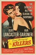 "Movie Posters:Film Noir, The Killers (Universal, R-1956) and Criss Cross (Universal,R-1958). One Sheets (2) (27"" X 41"").... (Total: 2 Items)"
