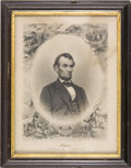 Political:Small Miscellaneous (pre-1896), Abraham Lincoln: Engraved Print, 1864....