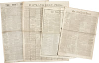 [Abraham Lincoln] Newspaper Archive Relating to the Assassination of Abraham Lincoln