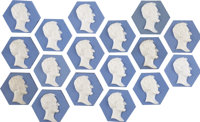 """Abraham Lincoln: Group Lot of """"Cameo"""" Style Tiles"""