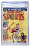 "Golden Age (1938-1955):Non-Fiction, Babe Ruth Sports Comics #9 Davis Crippen (""D"" Copy) pedigree(Harvey, 1950) CGC FN/VF 7.0 White pages...."