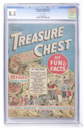 Golden Age (1938-1955):Miscellaneous, Treasure Chest V1#1 (George A. Pflaum, 1946) CGC VF+ 8.5 White pages....