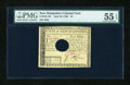 Colonial Notes:New Hampshire, New Hampshire April 29, 1780 $4 PMG About Uncirculated 55 EPQ,HOC....
