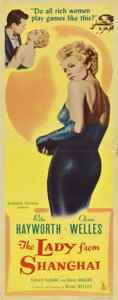 "Movie Posters:Film Noir, The Lady From Shanghai (Columbia, 1947). Insert (14"" X 36"")...."