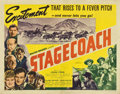 "Movie Posters:Western, Stagecoach (United Artists, 1939). Half Sheet (22"" X 28"")...."