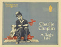 "Movie Posters:Comedy, A Dog's Life (Pathé, R-1920s). Half Sheet (22"" X 28"")...."