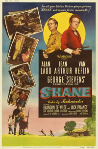 """Shane (Paramount, 1953). Poster (40"""" X 60"""") Style Z"""