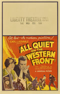 "Movie Posters:Academy Award Winner, All Quiet on the Western Front (Universal, 1930). Window Card (14""X 22"")...."