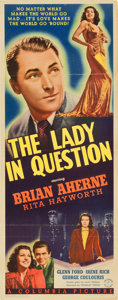 "Movie Posters:Drama, The Lady in Question (Columbia, 1940). Insert (14"" X 36"")...."