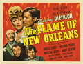 "Movie Posters:Romance, The Flame of New Orleans (Universal, 1941). Half Sheet (22"" X 28"")...."