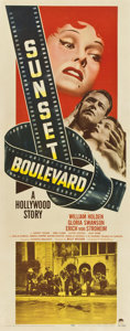 "Movie Posters:Film Noir, Sunset Boulevard (Paramount, 1950). Insert (14"" X 36"")...."