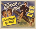 "Movie Posters:Mystery, Terror By Night (Universal, 1946). Half Sheet (22"" X 28"")...."