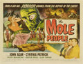 "Movie Posters:Science Fiction, The Mole People (Universal International, 1956). Half Sheet (22"" X28"") Style A...."
