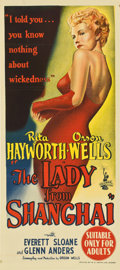 "Movie Posters:Film Noir, The Lady From Shanghai (Columbia, 1947). Australian Daybill (13"" X30"")...."