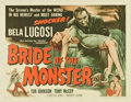 "Movie Posters:Horror, Bride of the Monster (Filmmakers Releasing, 1956). Half Sheet (22""X 28"")...."