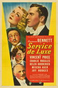 "Movie Posters:Comedy, Service de Luxe (Universal, 1938). One Sheet (27"" X 41"")...."