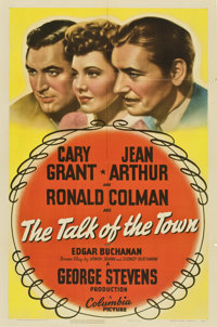 "The Talk of the Town (Columbia, 1942). One Sheet (27"" X 41"")"