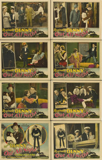 """Out All Night (Universal, 1927). Lobby Card Set of 8 (11"""" X 14"""").... (Total: 8 Items)"""