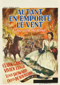 "Movie Posters:Academy Award Winner, Gone with the Wind (MGM, 1939). Pre-War Belgian (23"" X 33"")...."