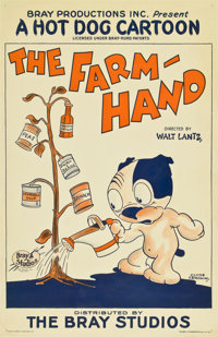 "The Farm-Hand (Bray Studios, 1927). One Sheet (26.5"" X 41"")"