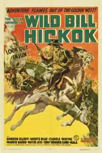 "The Great Adventures of Wild Bill Hickok (Columbia, 1938). Stock One Sheet (27"" X 41"") Style B"