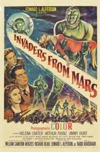"Invaders From Mars (20th Century Fox, 1953). One Sheet (27"" X 41"")"