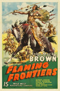 "Movie Posters:Serial, Flaming Frontiers (Universal, 1938). Stock One Sheet (27"" X41"")...."