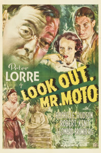 "Look Out, Mr. Moto (20th Century Fox, 1938). One Sheet (27"" X 41"")"