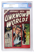 Silver Age (1956-1969):Horror, Journey Into Unknown Worlds #52 Circle 8 pedigree (Atlas, 1956) CGCVF/NM 9.0 Off-white to white pages....