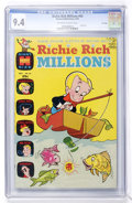 Bronze Age (1970-1979):Cartoon Character, Richie Rich Millions #43 File Copy (Harvey, 1970) CGC NM 9.4Off-white to white pages....