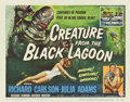 "Movie Posters:Horror, Creature From the Black Lagoon (Universal International, 1954).Title Lobby Card and Lobby Card (11"" X 14"").... (Total: 2 Items)"