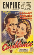 "Movie Posters:Drama, Casablanca (Warner Brothers, 1940s). Belgian (12.5"" X 18"") FirstPost-War Release...."
