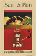 "Movie Posters:Hitchcock, Dial M For Murder (Warner Brothers, 1954). Window Card (14"" X22"")...."