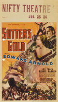 "Movie Posters:Western, Sutter's Gold (Universal, 1936). Midget Window Card (8"" X 14"")...."