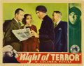 "Movie Posters:Horror, Night of Terror (Columbia, 1933). Lobby Card (11"" X 14"")...."
