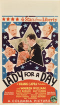 "Movie Posters:Comedy, Lady for a Day (Columbia, 1933). Midget Window Card (8"" X 14"")...."