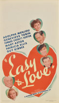 """Movie Posters:Comedy, Easy to Love (Warner Brothers, 1934). Midget Window Card (8"""" X14"""")...."""
