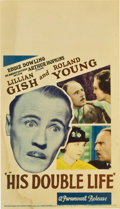 """Movie Posters:Comedy, His Double Life (Paramount, 1933). Midget Window Card (8"""" X 14""""). Comedy.. ..."""